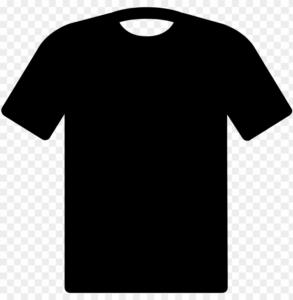 Télécharger photo black t shirt transparent background png
