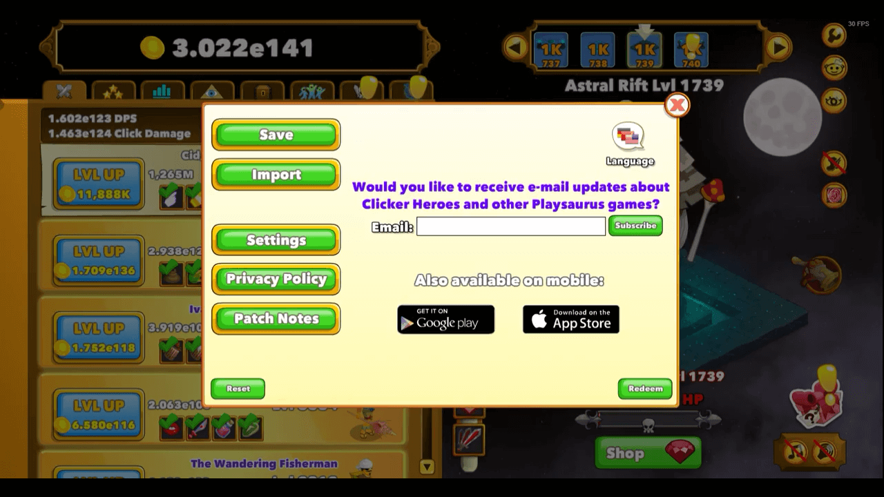 Télécharger photo clicker heroes redeem codes png