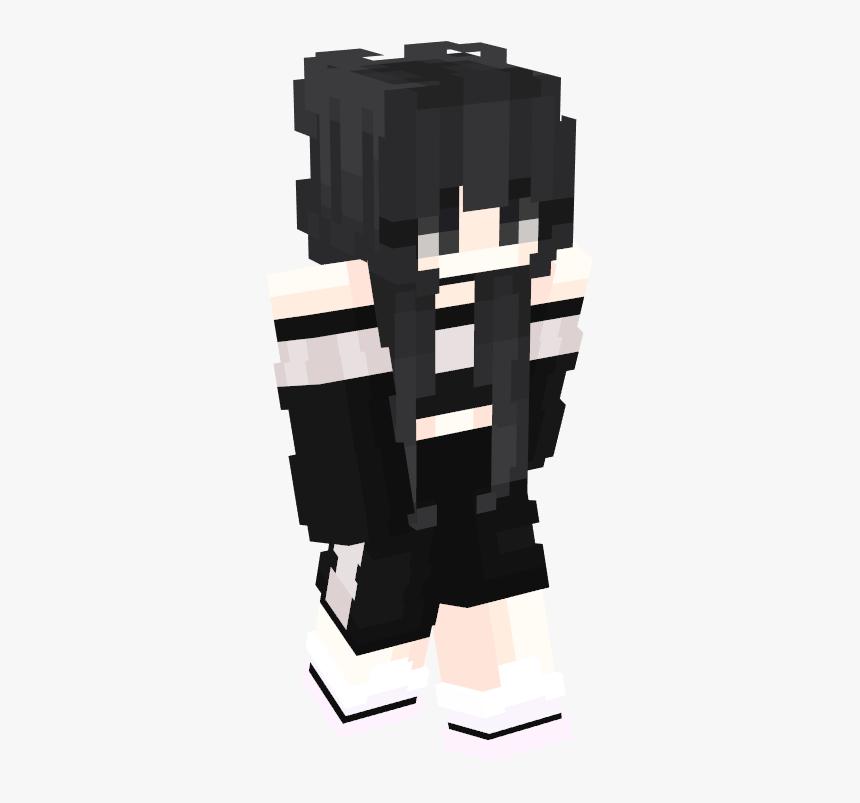 Télécharger photo minecraft black hair girl skin png