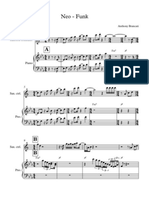 Télécharger photo neo funk sheet music png