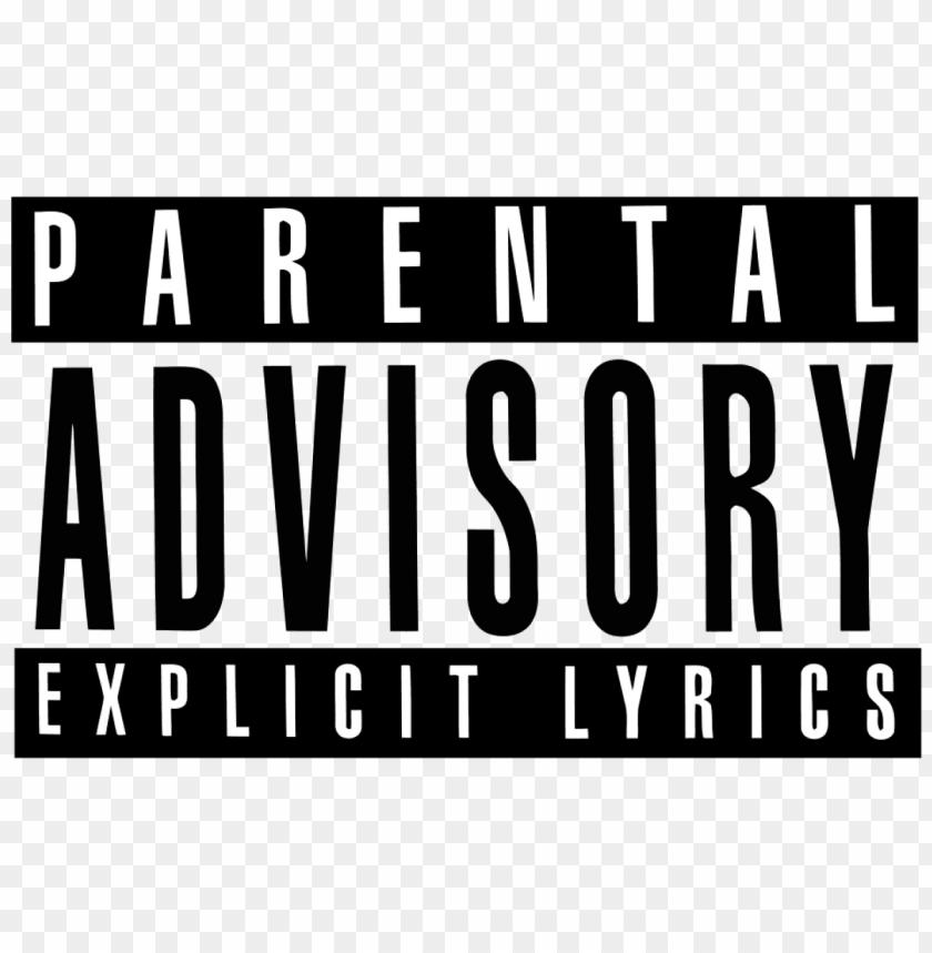 Télécharger stock parental advisory transparent png ...