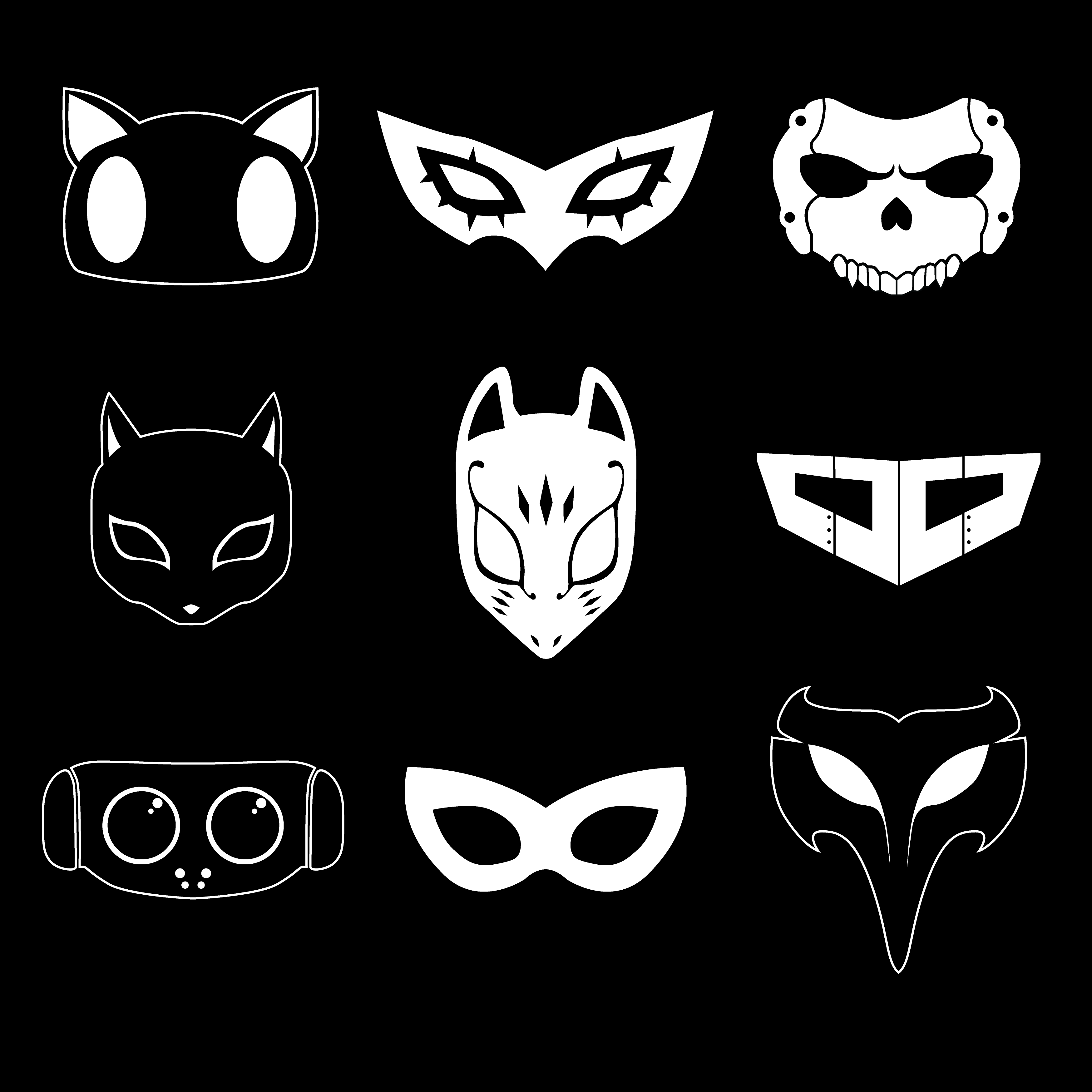Télécharger photo persona 5 mask png
